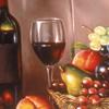 Still Life With Summer Fruit & Italian Wine